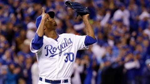 No. 5: World Series Game 6, Oct. 28 at Kauffman Stadium -- Royals 10, Giants 0