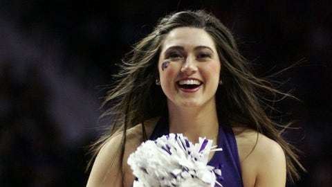 Big 12 hoops cheerleader