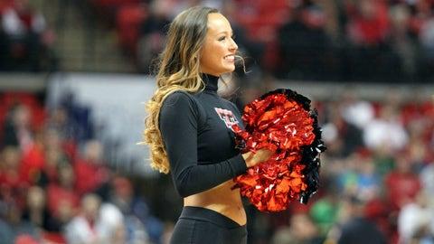 Big 12 hoops cheerleader