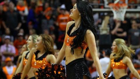 Big 12 hoops cheerleaders