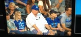 Worlds collide: Chiefs coach Andy Reid takes in a Royals game
