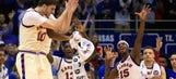 Triumph: Jayhawks beat Texas Tech 67-58 for share of Big 12 title
