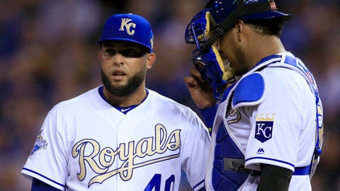 Kelvin Herrera was a pivotal asset to the Royals world championship bullpen in 2015 and throughout his five year career.	 Orlin Wagner  AP