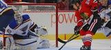 Blackhawks blank Blues 4-0 in Chicago