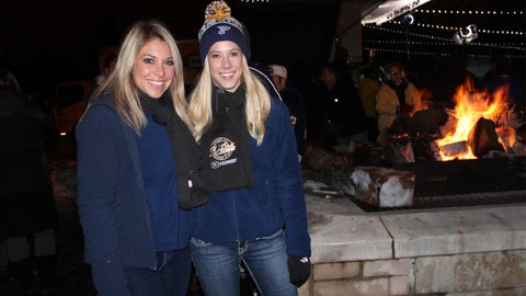 Kayla and Teryn by the bonfire