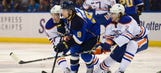 Schwartz scores twice, Blues sprint past Oilers 6-2