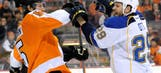 Blues score first but fall behind Flyers, lose 4-1