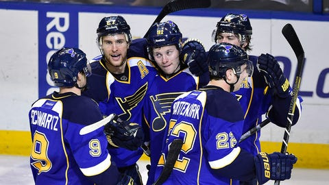 BLUES TAKE 2-0 LEAD ON BLACKHAWKS