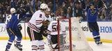 Blues beat Blackhawks 4-3 in OT, take 2-0 series lead