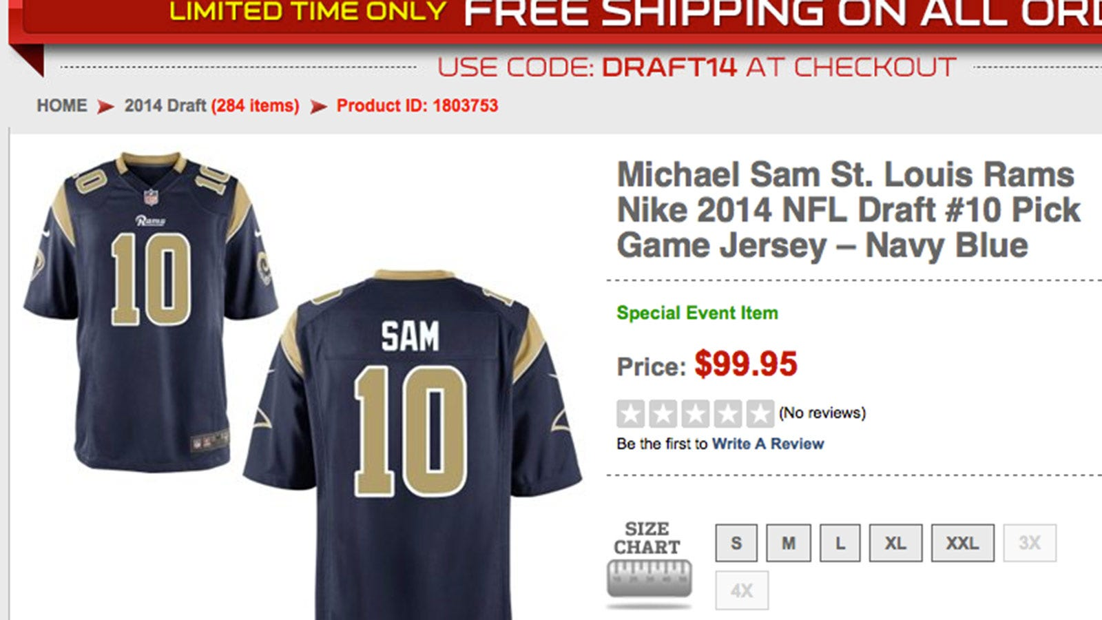 huge discount dde37 2c7a2 Michael Sam jersey already ranks among top rookie sellers ...