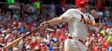 Cards score four in first, beat Dodgers and Greinke 4-2