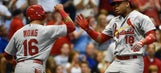 Adams, Taveras help Cardinals beat Brewers 5-3
