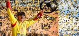 Logano wins at Kansas to advance in title race