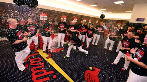 Cardinals celebrate trip to NLCS