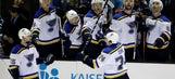 Oshie KOs Sharks as Blues end road losing streak