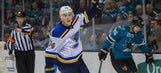 Oshie scores three to lead Blues past Sharks 7-2
