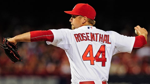 20. Trevor Rosenthal, RP, St. Louis Cardinals (1.49 ERA, 26 SV, 45 SO, 1.18 WHIP)
