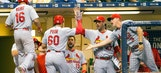Pham homers twice in Cardinals' 5-4 victory over Brew Crew