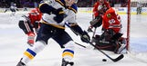 Blues recall Dmitrij Jaskin and Jordan Schmaltz from Wolves