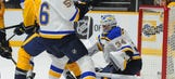 Blues can't solve Rinne, Forsberg in 5-0 loss to Preds