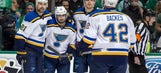 Backes establishing a presence in front of the net