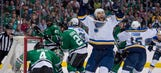 Conference finals, here they come! Blues rout Stars 6-1 in Game 7