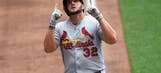 Cardinals end first half on good note, beat Brewers 5-1