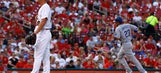 Mayers has rocky MLB debut as Cards lose to Dodgers 9-6