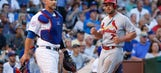 Cards' Holliday suffers broken right thumb on HBP