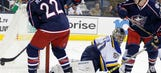 Blues goalies post combined shutout in 5-0 win over Blue Jackets