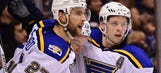 Blues handed first loss of the season by Canucks in OT