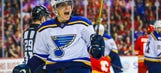 Perron collects hat trick as Blues defeat Flames 6-4