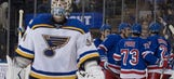Blues offense goes silent in 5-0 loss to Rangers