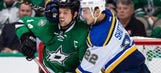 Blues lose 6-2 in scrappy game against Stars