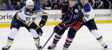 Blues can't contain Blue Jackets in 8-4 loss