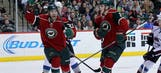 Charlie Coyle and Dany Heatley show chemistry in Wild's loss