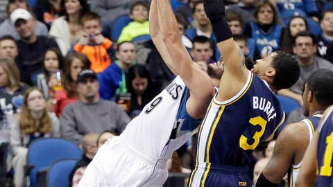 Jazz at Timberwolves: 1/18/14