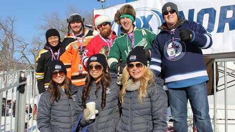 Fans show their support for their favorite NHL teams
