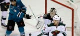Wild overcome by Sharks in overtime loss
