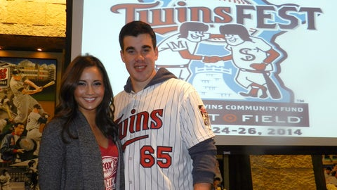 Angie with Twins pitcher Trevor May