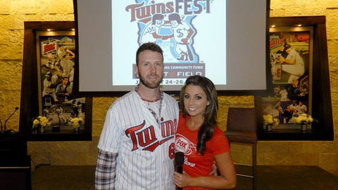 FOX Sports North Girl Kaylin with Twins Pitcher Jared Burton
