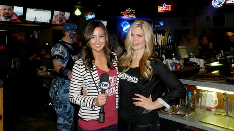 FOX Sports North Girls Angie and Kendall hosted a Timberwolves HD Viewing Party at Bunny's Bar & Grill in Saint Louis Park.