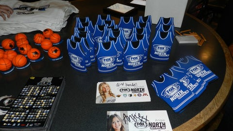 Fans picked up cool items like FOX Sports North Girls bottle coolies.