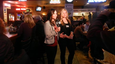 On-air with Angie and Kendall from Bunny's Bar & Grill in Saint Louis Park.