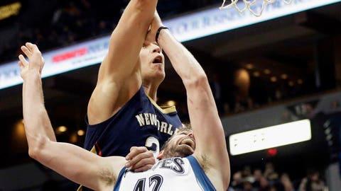 Pelicans at Timberwolves: 1/29/14