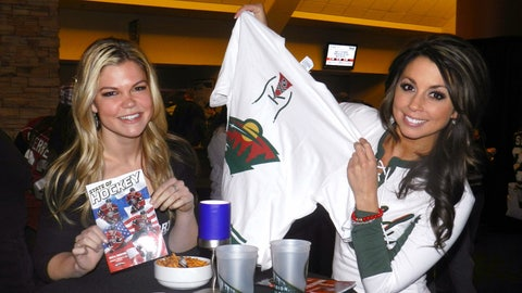 In honor of the winter weather, the Minnesota Wild bring the Polar Vortex indoors & give every fan a white jersey tee