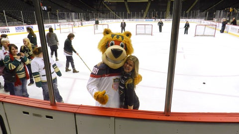 Nordy and Kendall are excited to cheer on the Minnesota Wild's five players headed to the 2014 Winter Olympics