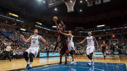 Raptors at Timberwolves: 3/9/14