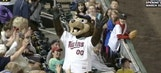 Twins mascot catches foul ball in his mouth