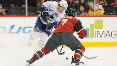 Canucks at Wild: 3/26/14